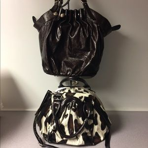 Two used bags one is Lofferel Randal for Target.